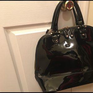 Black Patent dome purse